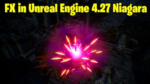 Dark Energy Burst FX in UE4.27 Niagara
