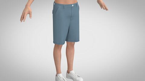 Tailored Shorts, Marvelous Designer, Clo3D