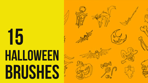 Halloween brushes for Photoshop