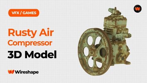 Rusty Air Compressor Raw Scanned 3D Model