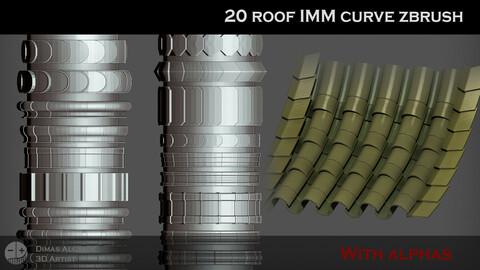 🏘️ [NEW] 20 roof IMM curve zbrush ⛩️