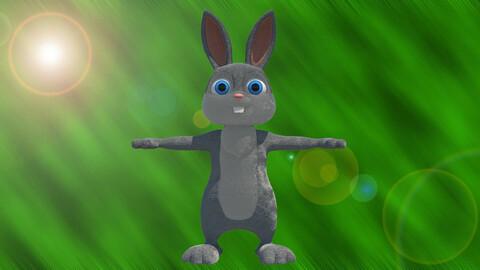 Rabbit 3d Cartoon 3D model