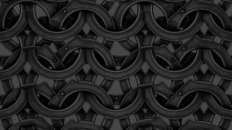 Riveted Chainmail PBR material