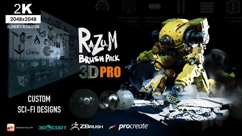 RaZuM MEGAPACK 3D PRO for(Nomadsculpt/Procreate/Zbrush/3Dcoat)