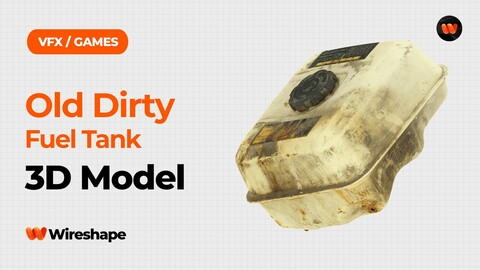 Old Dirty Fuel Tank Raw Scanned 3D Model