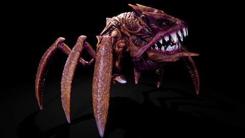 Alien Creature Crab Monster UE4 Zbrush 3DS MAX + Octane