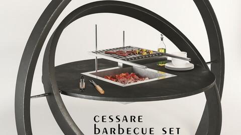 Cesarre KARA Barbecue Grill Set (1 Barbecue)