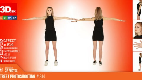 T-POSE & DETAILS | Female Photo References #914