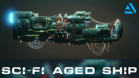 SCI-FI ABANDONNED / AGED SPACE SHIP