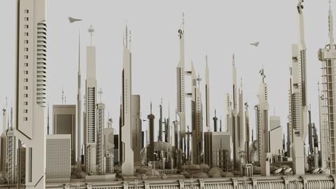 Futuristic Sci-Fi Buildings Pack