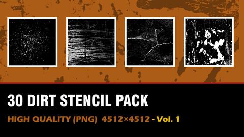 """ 30 Dirt Stencil Pack"" vol. 1"