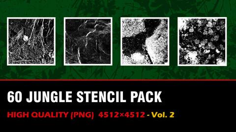 """"""" 60 Jungle Stencil Pack"""" vol. 2"""