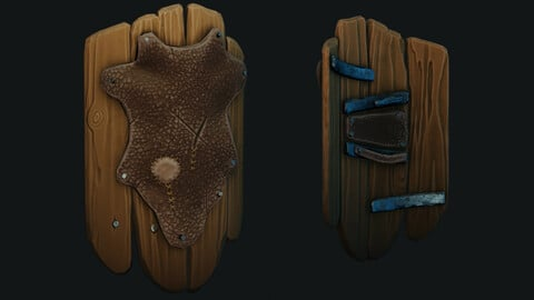 Game Ready Stylized Wooden Shield
