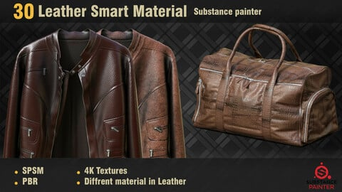 30 Leather Smart Materials PBR SPSM