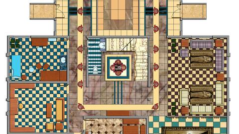 2D Floor Plan Rendering 2