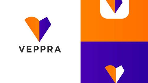 Veppra, V Logo Design
