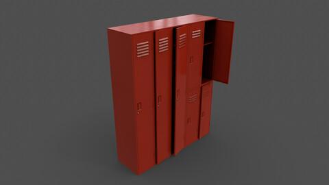 PBR School Gym Locker 07 - Red