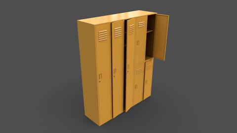 PBR School Gym Locker 07 - Yellow