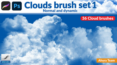 Normal and dynamic clouds brush set