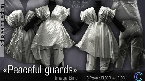 Peaceful guards. Image Bird. Clo3d, Marvelous Designer.