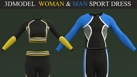 Woman And Man Sport Dress