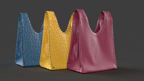 Leather handbag 3D model