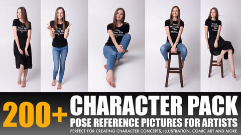"""Photo/Textures Reference Pack: 200+ Character  Pictures """"Young Women (Model) Posing With Chair"""""""