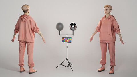 Young woman in tracksuit ready for animation 302