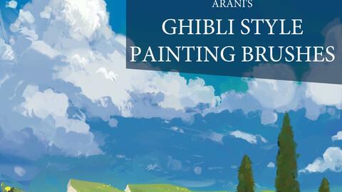 Arani's Ghibli styled painting brush set