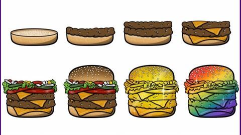 Twitch Sub Badges: Burger
