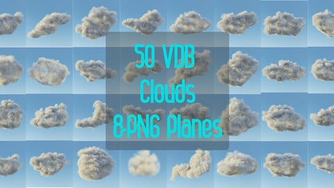 50 VDB Cloud & PNG For Planes