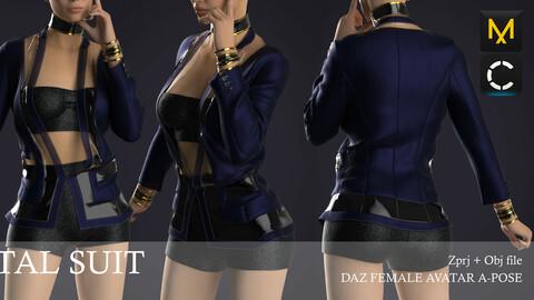 Female Digital Suit