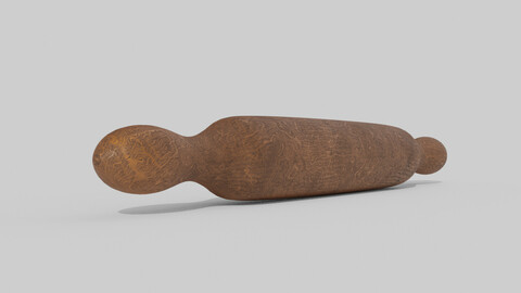 Low-poly wood rolling pin