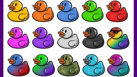 Twitch Sub Badges: Rubber Duckies