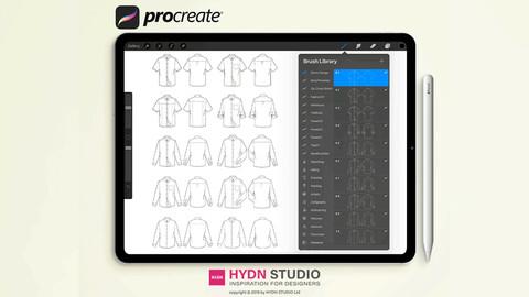 Shirts Design Set Procreate Stamp Brushes