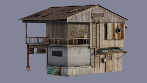Post - apocalyptic Building | House | Wooden | Old