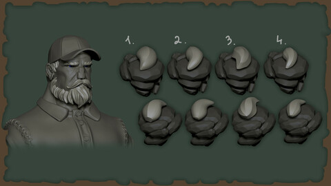 4 FUR BRUSHES FOR Zbrush