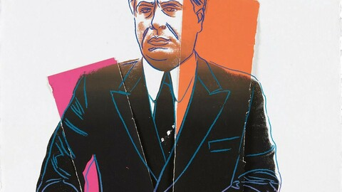 John Gotti Abstract Portrait