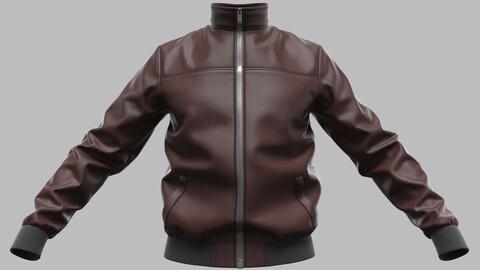 Men's Leather Jacket (Marvelous Designer / Clo 3D project)