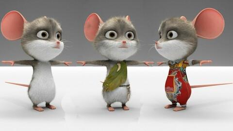 全绑定卡通老鼠