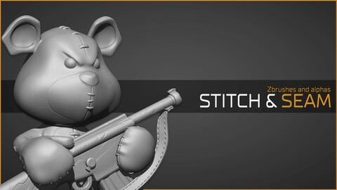 Mad teddy pack: Stitch and seam brushes for zbrush