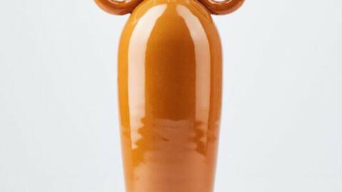 Round Handles Vase in Glazed Terracotta