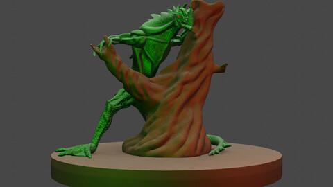 Ancient Lizard 3D Model 3D model