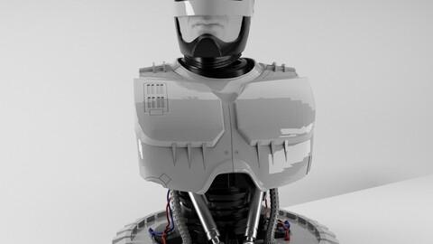 Robocop Bust for 3d Print 3D print model