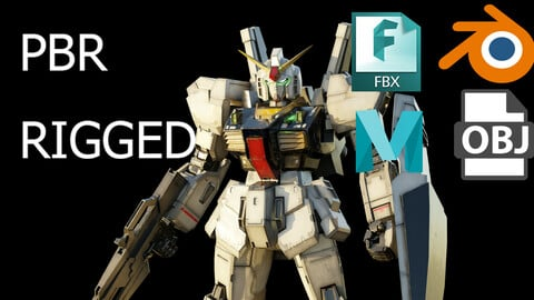 GUNDAM MK-II 3Dmodel rigged with realistic texture