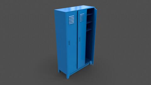 PBR School Gym Locker 08 - Blue Light