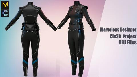 Space outfit / Marvelous Desinger/Clo3D Project+OBJ File