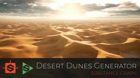 Sand Dunes Generator - Substance Designer