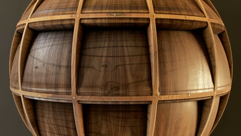 PBR - WOODEN CEILING - 4K MATERIAL