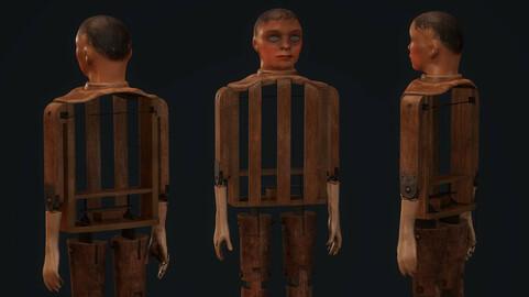 Old Ventriloquist Puppet - PBR Model